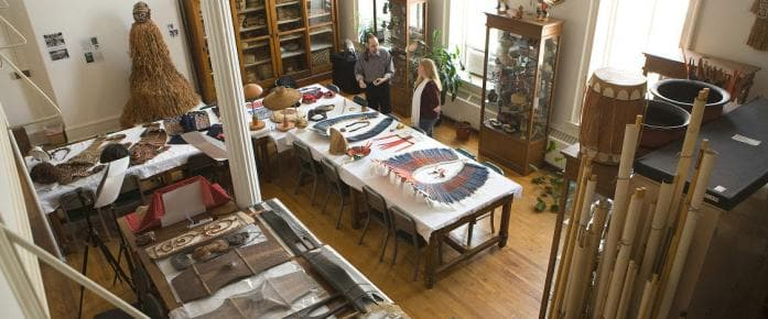 overhead view of Anthropology Collections