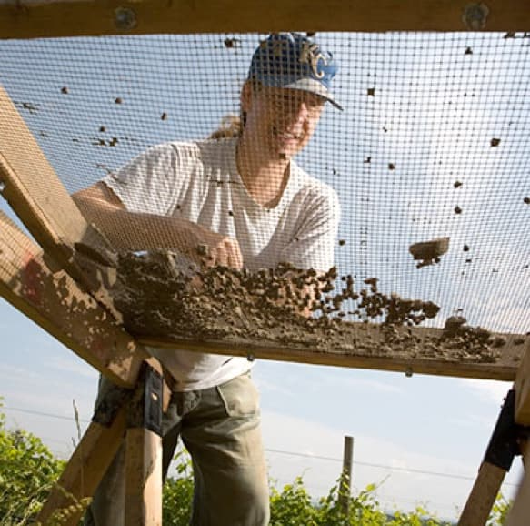 Kurt Jordan working in a field setting